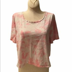 VS PINK Tie Dyed Cropped Tee